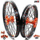 21/18 ENDURO WHEEL SET FOR KTM EXC EXC-E 250 300 400 2003-2019 2016 BLACK SPOKE