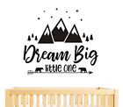 Dream Big Little One Quote Wall Decals Nursery Wall Decals Quote Decal Wall