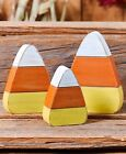 Crazy for Candy Corn Halloween Fall Harvest Table Shelf Home Decor 3 Pc