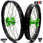 KKE 21/19 Mx Wheels Rims Set For KAWASAKI KX250F 2006-2019 KX450F 2006 Green Hub