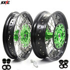 3.5/5.0*17 SUPERMOTO WHEELS SET FOR KAWASAKI KX250F 06-18 KX450F 2006-2018 DISC