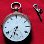 Antique mid 1800s JOHN FORREST ENGLISH SILVER FUSEE POCKET WATCH  5166