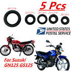 5 Pcs Rubber Motorcycle Engine Oil Seal Gear Shaft Seals For Suzuki GN125 GS125