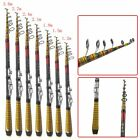 Portable Carbon Fiber Superhard Travel Telescopic Fishing Rod Sea Spin Pole US
