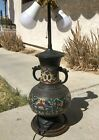 Antique Ancient Chinese Cloisonne Vase Lamp Working