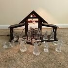 Waterford Crystal 18 pc Nativity Set