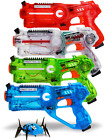 Dynasty Toys Family Laser Tag Set 4 Laser Tag Blasters and 1 Target Robot Bug