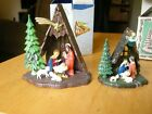 Two Small Plastic Nativity Scenes Italy and The Crown Colony of Hong Kong