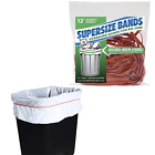 LARGE RUBBER BANDS For Garbage Cans Trash Bins Gripper Elastic Heavy Duty Liner