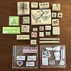 Lot 21 + Cling Rubber Wooden Stamps River City Judith All Night Media Bugawumps