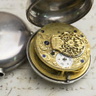 1787 Silver Pair Case English VERGE FUSEE Antique Pocket Watch