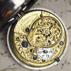 1760s Silver Pair Case English VERGE FUSEE Antique Pocket Watch