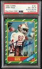 1986 Topps #161 Jerry Rice Auto RC PSA 6 Rookie Card PSA DNA Certified Autograph