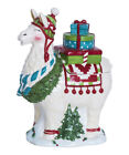 Blue Sky H9 Kitchen Decor Christmas Ceramic Cookie Jar 115in Llama 17935