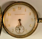 NICE 14K GOLD CASE 1891 WALTHAM SEASIDE GRADE 0S 7J POCKET WATCH