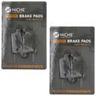 Niche Brake Pad Set Honda XR650L CR125R CR250R Suzuki Rear Semi-Metallic 2 Pack