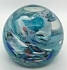 ROLLIN KARG GLASS WORKS SIGNED ART GLASS PAPERWEIGHT- EARLY EXAMPLE