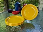 set lot 4 SALAD bistro PLATE daffodil yellow NEW HOMER LAUGHLIN FIESTA 7 1/4