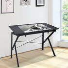 Adjustable Drafting Table Art  Craft Drawing Desk Folding w Wood Top Black