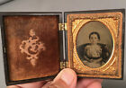 AMBROTYPE IMAGE of VERY CUTE YOUNG GIRL in EXCELLENT THERMOPLASTIC CASE
