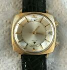 Le Coultre Memovox Alarm Square Vintage 14K Solid Yellow Gold Watch Manual Wind