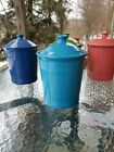 FIESTA WARE large CANISTER CROCK LID peacock blue NEW
