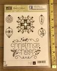 Stampin Up CHEERFUL CHRISTMAS Cling Stamp Set Ornaments Brand New JG
