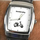Vintage Official Lambretta Vespa Scooter Custom Stainless Steel Mens Watch