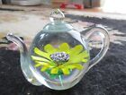 2003 Ruby May Sunflower Teapot Paperweight MINT FS