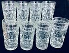 8 Vintage Colony Glass Park Lane Clear Iced Tea Glasses Mint Condition Unused