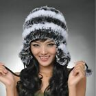 Winter Women's Hat Beanie With Ear Muffs Casual Solid Patchwork Headwear Turbans