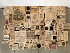 WOOD STAMP LOT 82 MISC WOOD STAMPS FLOWERS ALL OCCASIONS STAMPIN UP+