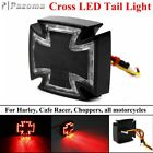 Black Motorcycle Cross Maltese LED Taillight Brake Light For Harley Cafe Racer