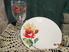 Fiesta Ware WHITE Floral Bouquet Decal Luncheon Plate & Tervis Wine Glass NWT