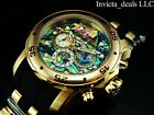 Invicta Men's 48mm Scuba Pro Diver Chronograph ABALONE Dial Gold Ton