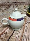 Fiestaware White with Tones design large Teapot