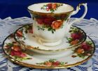 TEA SET TRIO Cup Saucer  Salad Plate ROYAL ALBERT OLD COUNTRY ROSES ENGLAND