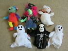 SUPER Halloween Ty Beanie Baby/Babies FrankenTeddy Sheets Scary Creepers Quivers