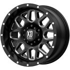 4 XD Series XD820 Grenade 17x9 6x55 12mm Black Milled Wheels Rims 17 Inch
