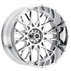 4 Vision 412 Rocker 22x12 8x65 51mm Chrome Wheels Rims 22 Inch
