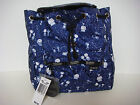 LeSportsac Peanuts Snoopy Stargazer Blue Small Edie Backpack Limited Edition New