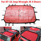 Front Sunshade Sun Shade Mesh Soft Top Cover UV Protection for Jeep Wrangler JK