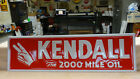 KENDALL MOTOR OIL EMBOSSED METAL SIGN 28x 8 NEAR MINT NOS NEW OLD STOCK