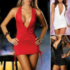 Sexy Women Backless Bandage Bodycon Evenning Clubwear Party Cocktail Mini Dress