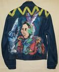 Vintage Wrangler Jean Jacket Size 40 Native American USA Rocket Scene Painted