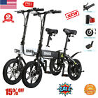 14 250W Folding Electric Bike Moped Bicycle Collapsible 3 Modes LED light USB