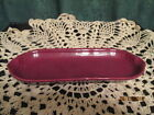 Fiesta Ware Retired  CINNABAR Burgundy Relish Tray Corn on the Cob Tray Fiesta