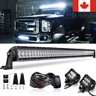 52inch LED Light Bar Combo +2× 4inch Lamp For Offroad SUV ATV Pick