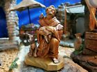 FONTANINI ST FRANCIS Saint w ANIMALS 5 NATIVITY SET VILLAGER 65260 HEIRLOOM
