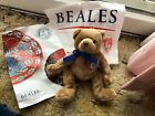 TY Beanie Baby - NIGEL the Bear (Beales UK Exclusive) (7 inch) MWMTs + Circular!